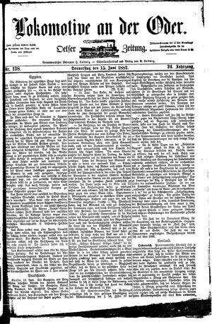 Lokomotive an der Oder vom 15.06.1882