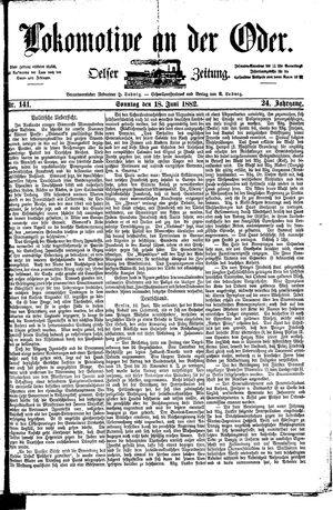 Lokomotive an der Oder vom 18.06.1882