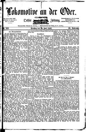 Lokomotive an der Oder vom 20.06.1882