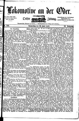 Lokomotive an der Oder vom 22.06.1882