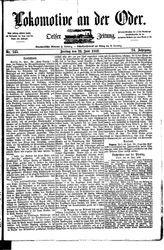 Lokomotive an der Oder (23.06.1882)