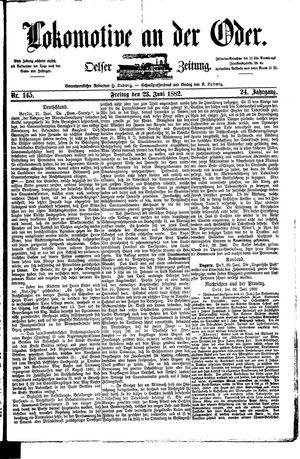 Lokomotive an der Oder vom 23.06.1882