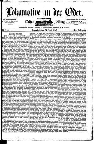 Lokomotive an der Oder vom 24.06.1882