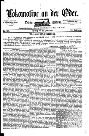 Lokomotive an der Oder vom 30.06.1882