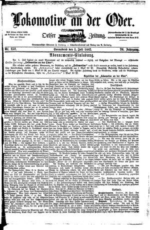 Lokomotive an der Oder vom 01.07.1882