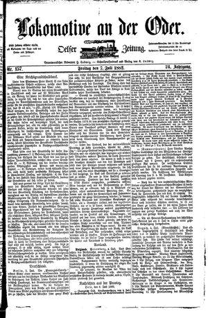 Lokomotive an der Oder vom 07.07.1882