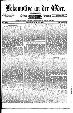 Lokomotive an der Oder vom 08.07.1882