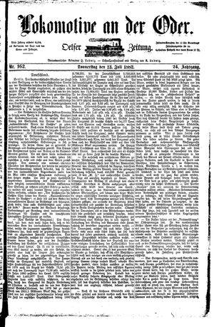 Lokomotive an der Oder vom 13.07.1882