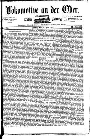 Lokomotive an der Oder vom 16.07.1882