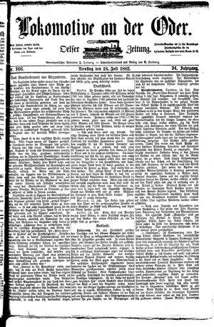 Lokomotive an der Oder vom 18.07.1882