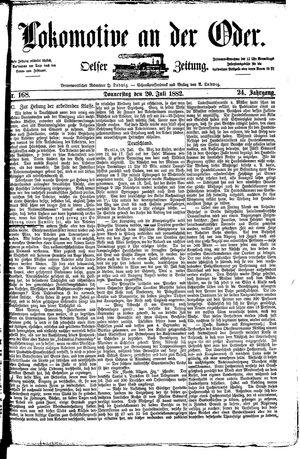 Lokomotive an der Oder on Jul 20, 1882