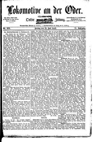 Lokomotive an der Oder vom 21.07.1882