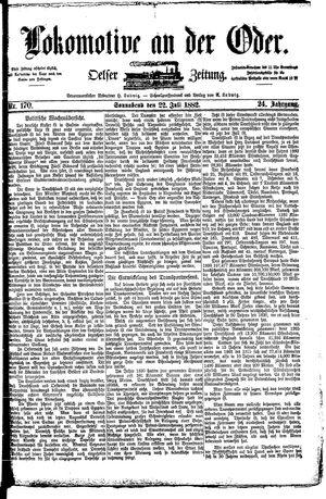 Lokomotive an der Oder vom 22.07.1882