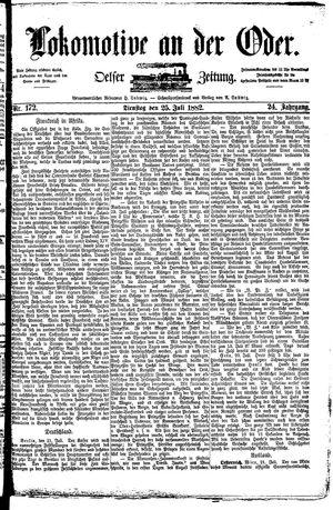 Lokomotive an der Oder vom 25.07.1882
