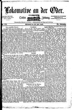 Lokomotive an der Oder vom 26.07.1882