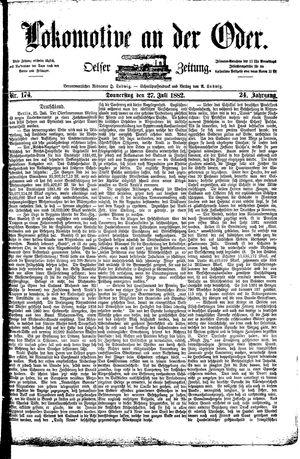 Lokomotive an der Oder vom 27.07.1882