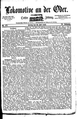 Lokomotive an der Oder vom 28.07.1882