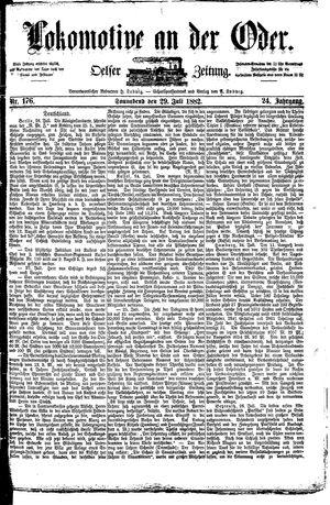 Lokomotive an der Oder vom 29.07.1882