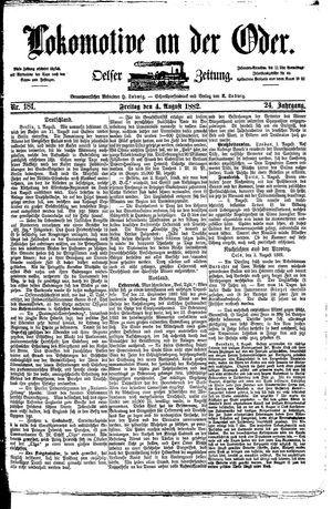 Lokomotive an der Oder vom 04.08.1882