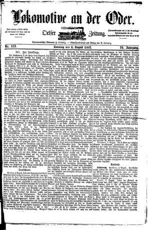 Lokomotive an der Oder vom 06.08.1882