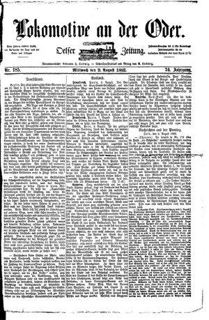 Lokomotive an der Oder vom 09.08.1882