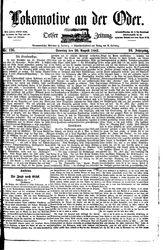Lokomotive an der Oder (20.08.1882)