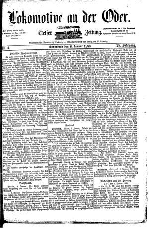 Lokomotive an der Oder vom 06.01.1883