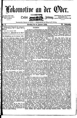 Lokomotive an der Oder vom 09.01.1883