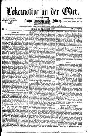 Lokomotive an der Oder on Jan 12, 1883