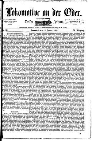 Lokomotive an der Oder vom 13.01.1883