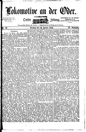 Lokomotive an der Oder vom 16.01.1883