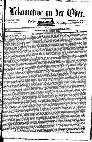 Lokomotive an der Oder vom 17.01.1883