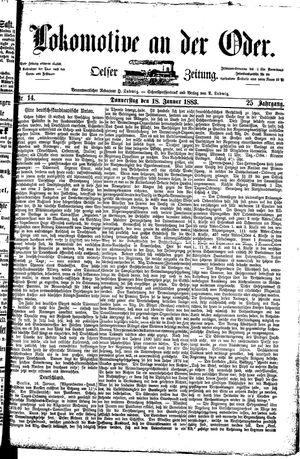 Lokomotive an der Oder vom 18.01.1883