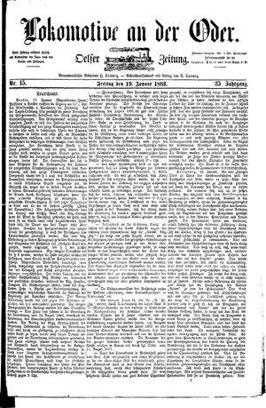 Lokomotive an der Oder on Jan 19, 1883