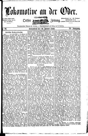 Lokomotive an der Oder vom 20.01.1883