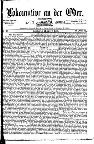 Lokomotive an der Oder vom 21.01.1883