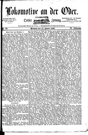 Lokomotive an der Oder vom 24.01.1883