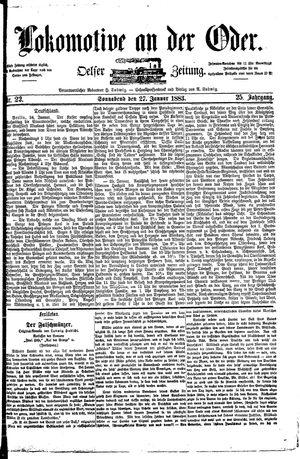 Lokomotive an der Oder vom 27.01.1883