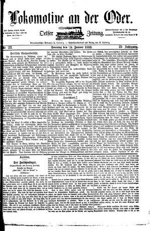 Lokomotive an der Oder vom 28.01.1883