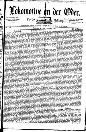 Lokomotive an der Oder vom 30.01.1883