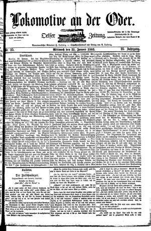 Lokomotive an der Oder vom 31.01.1883