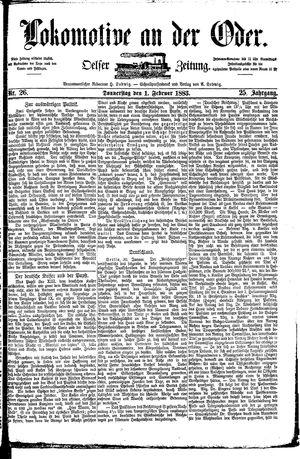 Lokomotive an der Oder vom 01.02.1883