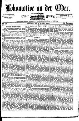 Lokomotive an der Oder vom 03.02.1883