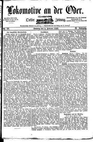 Lokomotive an der Oder vom 04.02.1883