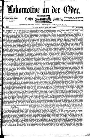 Lokomotive an der Oder vom 06.02.1883