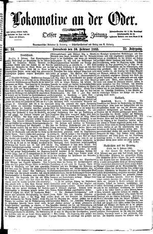 Lokomotive an der Oder vom 10.02.1883