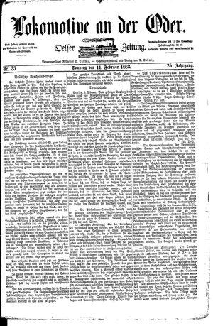 Lokomotive an der Oder vom 11.02.1883