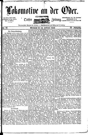 Lokomotive an der Oder vom 14.02.1883