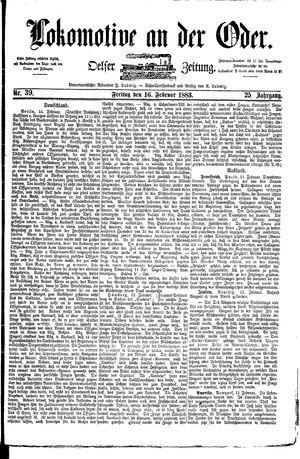 Lokomotive an der Oder vom 16.02.1883