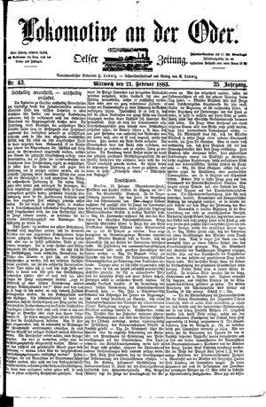 Lokomotive an der Oder vom 21.02.1883